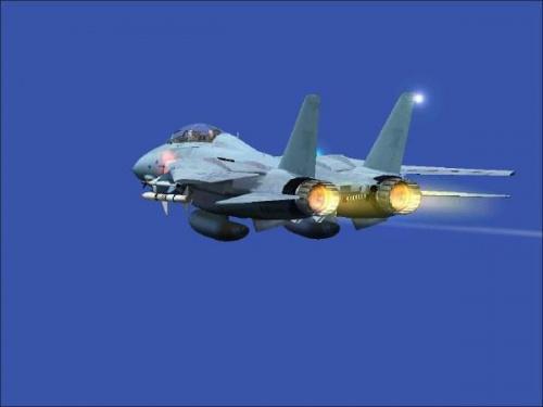 F-14 Tomcat firmy Grumman po starcie z płyty lotniska. #grumman #samolot #odrzutowy #pilot #niebo #błękit