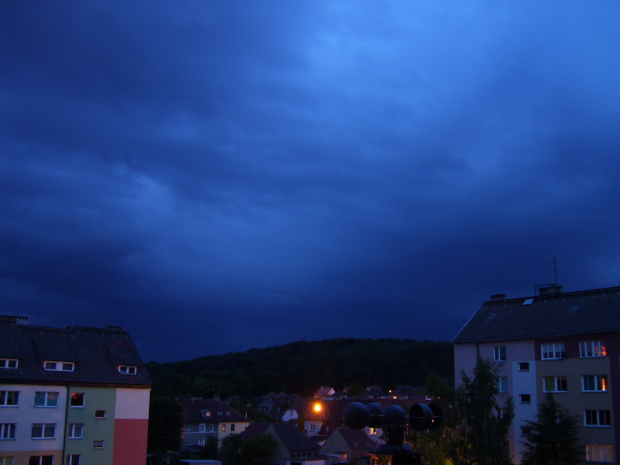 16-06-2008 Łobez wieczorem kierunek SW #chmury