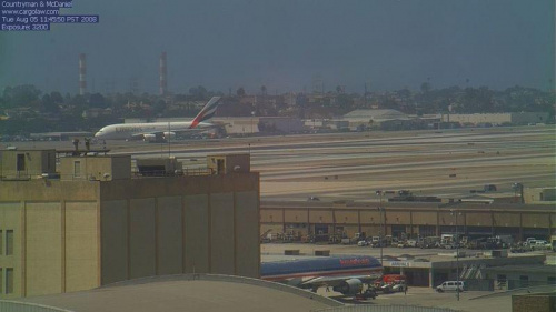 A380 Emirates na LAX