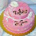 Kiara 1 roczek #tort #różowy #urodziny
