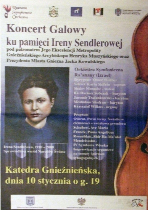 Galowy koncert ku pamięci Ireny Sendlerowej Gniezno 2009 0 110
