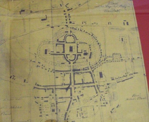 Fraustadt - plan miesta - wlasnosc Muzeum Wschowy #Wschowa
